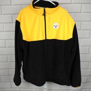 Steelers fleece full zip jacket men's XXL
